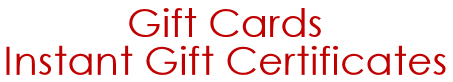 Gift Cards & Instant Gift Certificates
