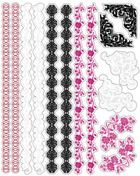 Love Letters Borders & Corners Clear Stickers