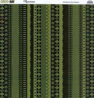 Green Day Glitter Ribbon CS Sticker