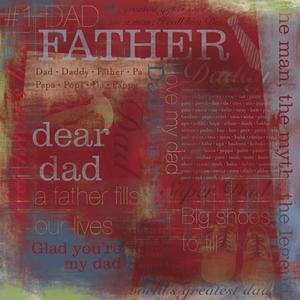 Number 1 Father Scrapbook Paper
