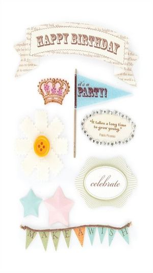 Birthday Adult Design Shop Stickers by Making Memories