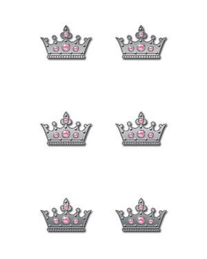 Pink Crowns Rhinestone Brads