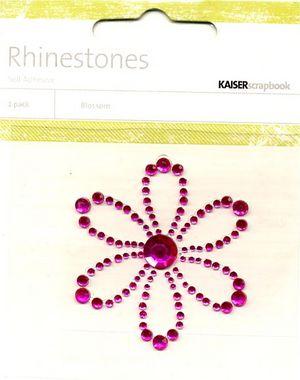 Hot Pink Blossom Rhinestone Picture